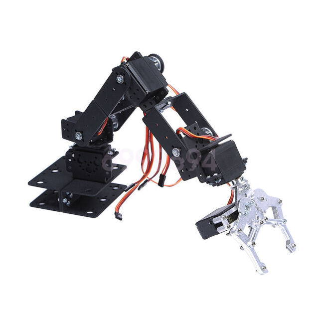 DIY Aluminium Robot 6 DOF Arm Mechanical Robotic Clamp Claw Mount Servo Kit Set