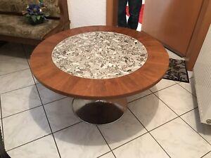 Details zu Wohnzimmertisch Eiche rustikal, rund Durchmesser 100cm