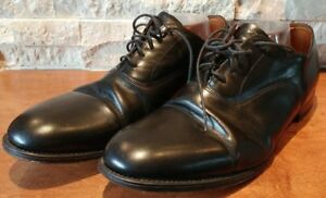 William Chatsworth Size 13D Bench Made Oxfords Black Leather US MADE IN ENGLAND