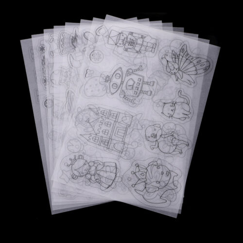 8x Clear Shrinkable Paper Shrink Plastic Art Craft Embellishment Jewelry DIY
