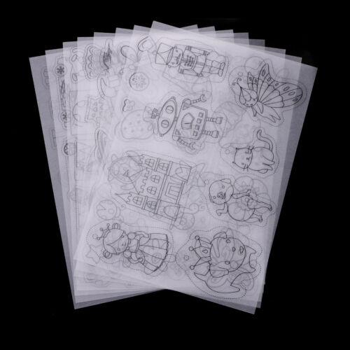 8x Clear Shrinkable Paper Shrink Plastic Art Craft Embellishment Jewelry DIY