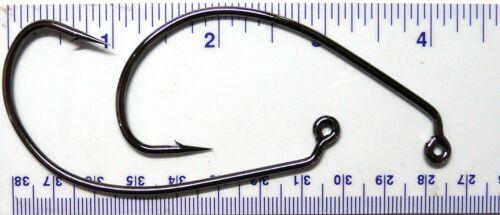 50 GT-2320 Black Nickel Wide Gap Jig Fish Fishing Hooks size 10//0