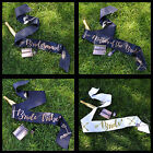 BRIDE TRIBE HEN PARTY SASHES - Black & Gold Bride to Be Hen Party Accessories