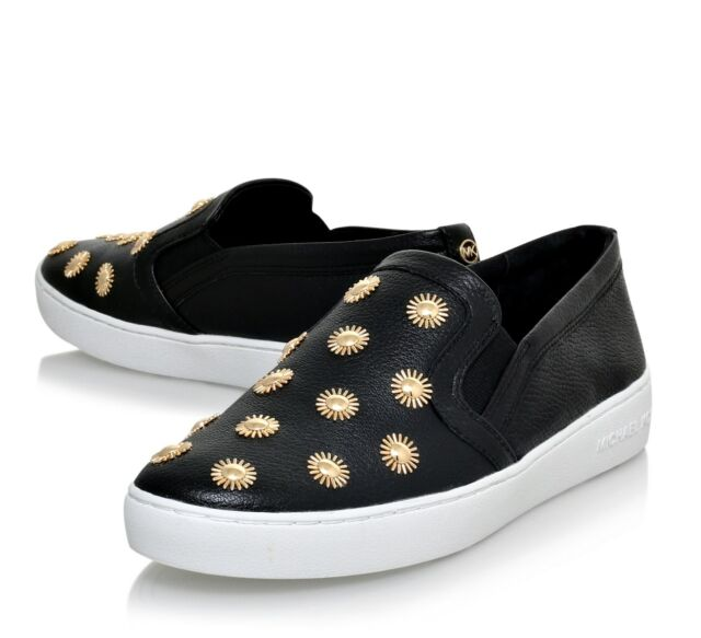 f318267e8a263 Michael Kors Leopard Slip-on SNEAKERS Trainers Black gold Size 38 ...