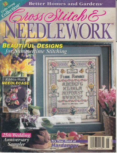 Cross Stitch & Needlework magazine June 1997 - samplers, florals, cushions