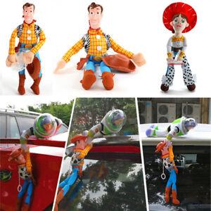 Toy-Story-4-Sheriff-Woody-Buzz-Poupee-Voiture-L-039-exterieur-Voiture-Hanging-Decor