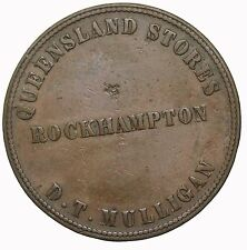 1863 Queensland Rockhampton D.T. Mulligan Stores Australia Merchant Token