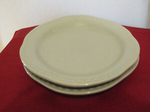 2 Pottery Barn Emma Celadon Sage Green Salad Pasta Plate