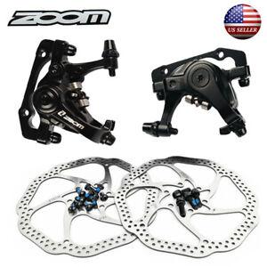 Mechanical Disc Brake Calipers MTB Bike 160//180//203mm Disc Brake 6 Bolts Rotor