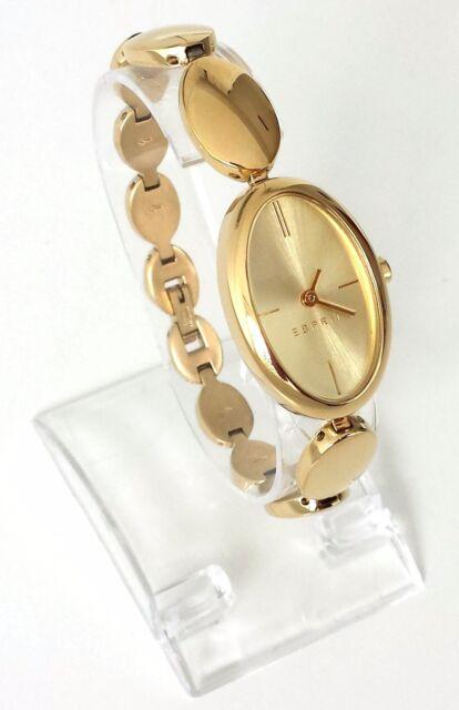 Esprit Damen Uhr Allie gold glänzend oval Edelstahl ES108592002