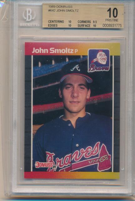 1989 Donruss John Smoltz Hof Rookie Card 542 Bgs10 Bgs