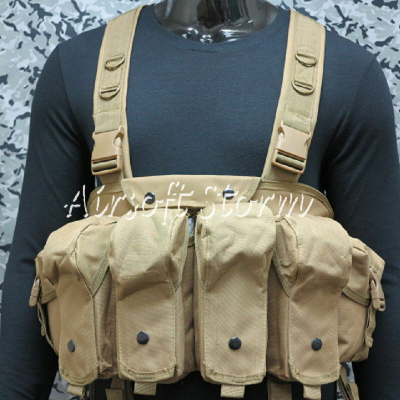 Airsoft SWAT  Tactical Gear Magazine Chest Rig Carry Vest Coyote Brown  the classic style