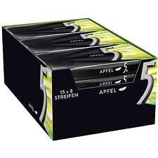15 Packs x Wrigley´s 5Gum Chewing Gum (APFEL / APPLE) / 120 Stripes