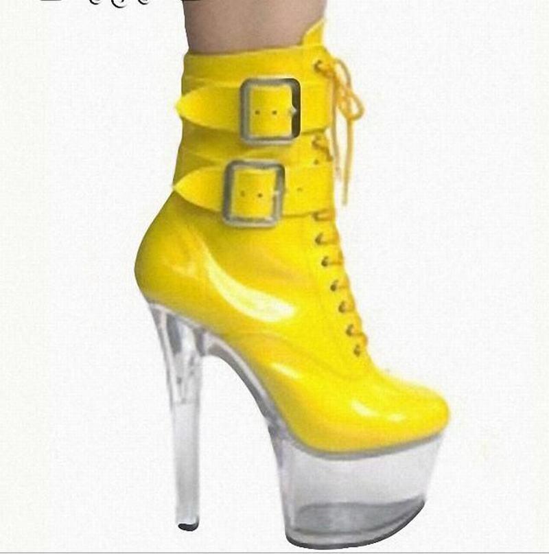 Donna Mid-Calf stivali Strap Buckle Lace Lace Lace Up Platform Stiletto High Heel scarpe New 0c9c81
