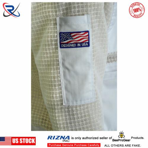 3XL Premium Professional 3 Layer Ultra Ventilated beekeeping jacket Round veil