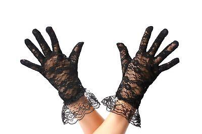 Guanti Pizzo Guanti Pizzo Donna Nero Gotico Vittoriana Gloves Ineguale Nelle Prestazioni