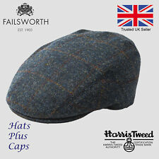 1906fb7c481014 Failsworth Genuine Harris Tweed Stornoway Flat Cap Scottish Bunnet 100%  Wool Hat