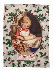 Victorian Trading Co Christmas Dish Towel One More Glass Until I See Santa
