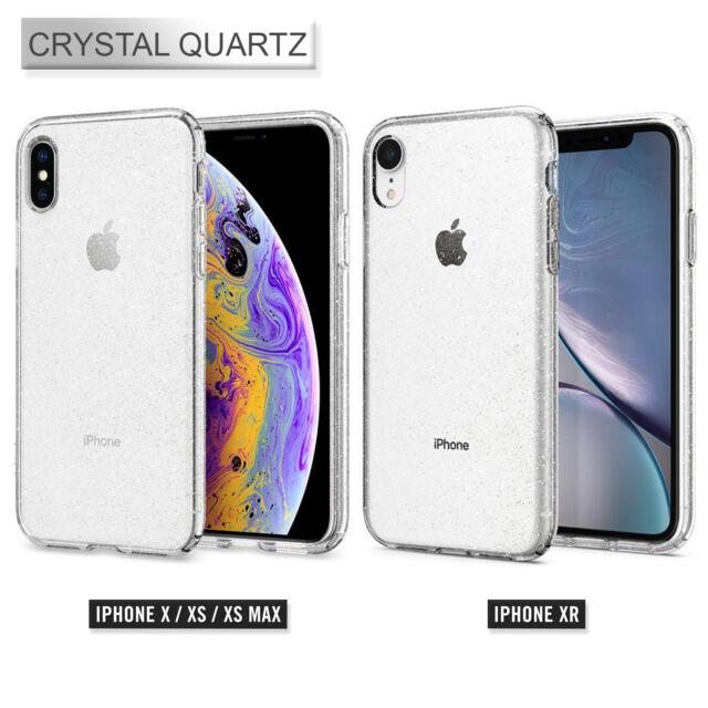 new concept f0f91 16778 Spigen Liquid Crystal Glitter Case for iPhone XS Max - Crystal Quartz
