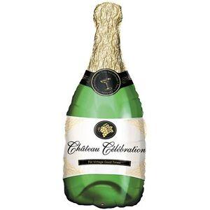 XL-Folienballon-Champagnerflasche-35-cm-x-91-cm-Hochzeit-Ballon-NEU