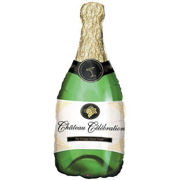 XL Folienballon Champagnerflasche 35 cm x 91 cm Hochzeit Ballon NEU