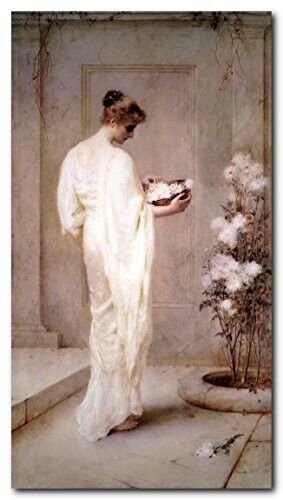 Victorian Lady with Flowers Henry Thomas Schafer Divinely Art Print Poster 16x20