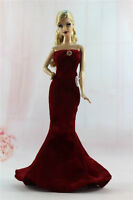Gorgeous Princess Party Dress/clothes Gown+bag For Barbie Doll N06u
