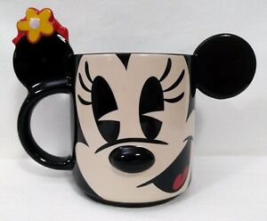 Minnie-Mouse-Disney-Store-Black-3D-Figural-Mug-Cup