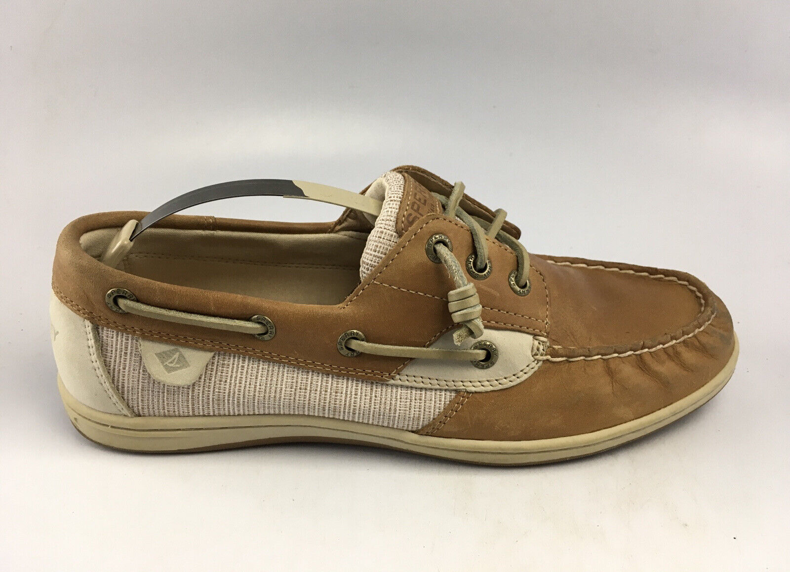 Sperry Top Sider Womens Songfish Boat Shoes STS95709 Brown/ Beige/ Sz 9 M