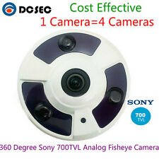 Analog 700TVL CCD 360 degree Wide Angle Hidden Mirror CCTV Dome Camera