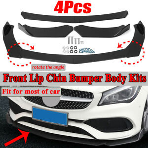 4PCS-Paraurti-Anteriore-Spoiler-Universale-Per-Audi-BMW-Ford-Subaru-VW-Mercedes