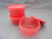 Tupperware Ideal Little Bowl Set 3 Blue Baby Child Kids Work Lunch Bag Snack Kitchen