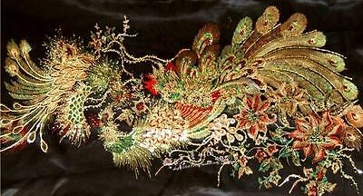 Large Embroidered Color Sequins Phoenix sew on Applique Diy Dress Lace Two Style