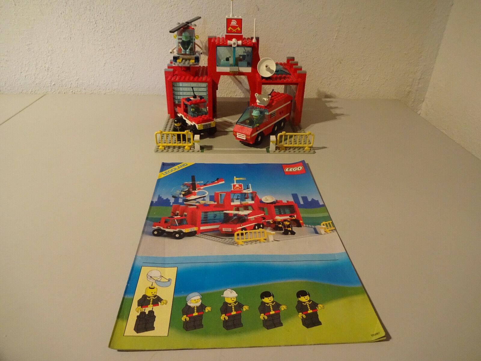 (GO) LEGO 6389 Feuerwehr Station MIT BA 100% KOMPLETT GEBRAUCHT FIGUREN