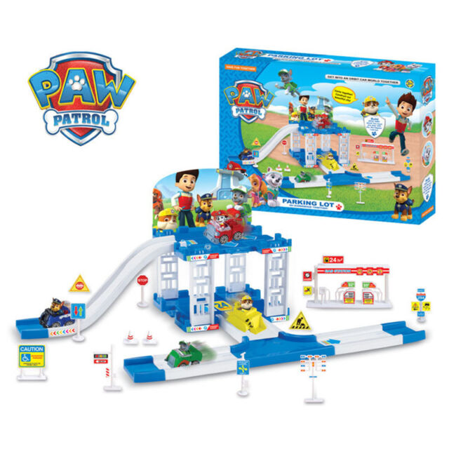 New Children Paw Patrol Car Parking Playground Figure Set Rubble Toys Christmas