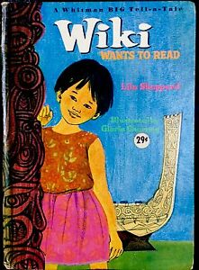 WIKI WANTS TO READ ~ Vintage 1960's Children's Whitman BIG Tell-A