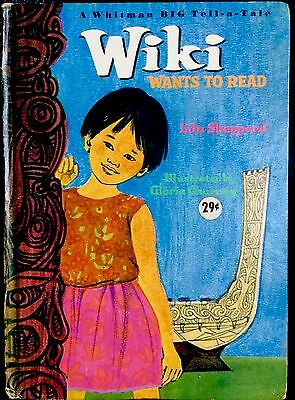 WIKI WANTS TO READ ~ Vintage 1960's Children's Whitman BIG Tell-A-Tale Book  | eBay