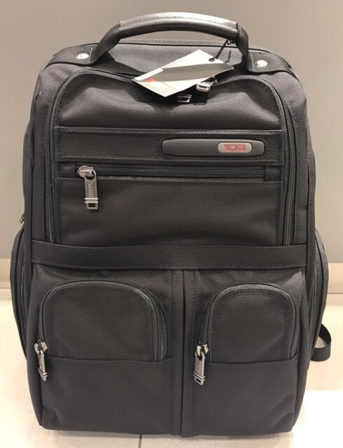 New Tumi Black Compact Laptop Brief Backpack Travel Luggage Bag 26173