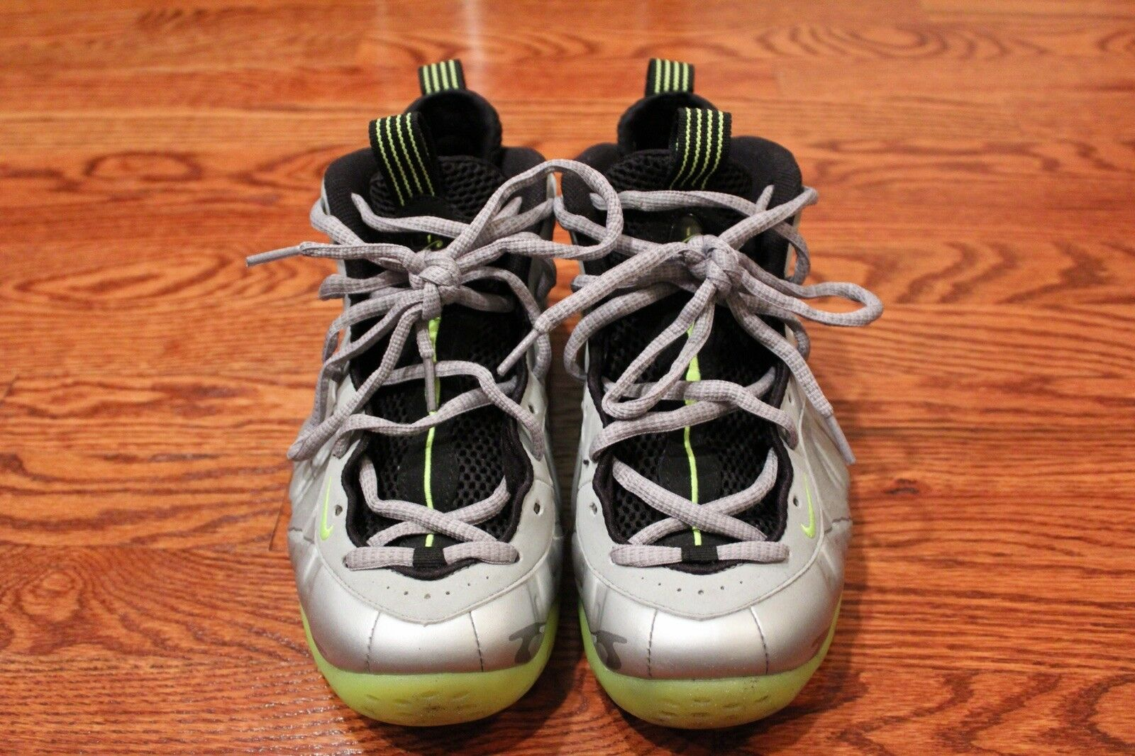 Nike Air Foamposite One PRM Silver Volt Camo 3M Size 8.5 penny/basketball/posite