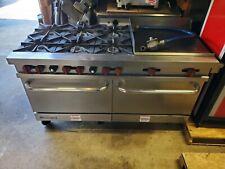 Vulcan V60f Commercial Gas Range 6 Burners 24 Griddle Amp 2 Standard Ovens