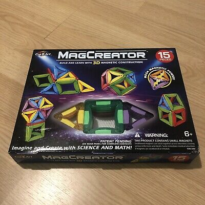 NEW MagCreator 15 PIECE BUILDING Set 3D MAGNETIC CONSTRUCTION