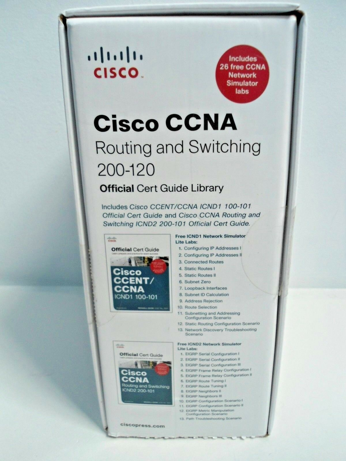 Official Cert Guide: Cisco CCNA Routing and Switching 200-120 Official Cert  Guide Library by Wendell Odom (2013, Paperback / Mixed Media) | eBay
