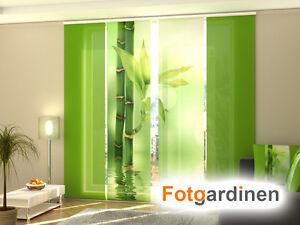 Fotogardinen bambus schiebevorhang schiebegardinen 3d fotodruck ma anfertigung ebay - Bambus schiebevorhang ...