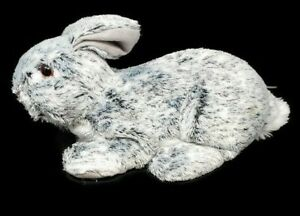 GRAY-WHITE-Easter-Bunny-Rabbit-with-Glass-Eyes-CUTE
