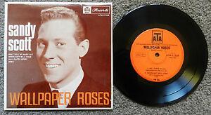 SANDY-SCOTT-WALLPAPER-ORIGINAL-OZ-4-TRACK-ATA-LABEL-EP-1966-TEEN-POP