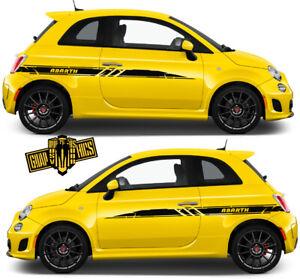 Auto-Seitenstreifen-Aufkleber-Grafik-Racing-Line-Aufkleber-fur-FIAT-500-ABARTH