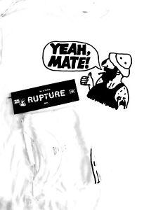 YEAH RUPTURE RECORDS Official shirt hardcore punk SIZE: XL MATE
