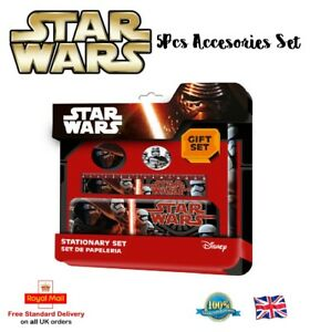 5Pcs-STAR-WARS-STATIONERY-SET-Metal-Pencil-Case-Pencil-Eraser-Sharpener-Gift-Toy