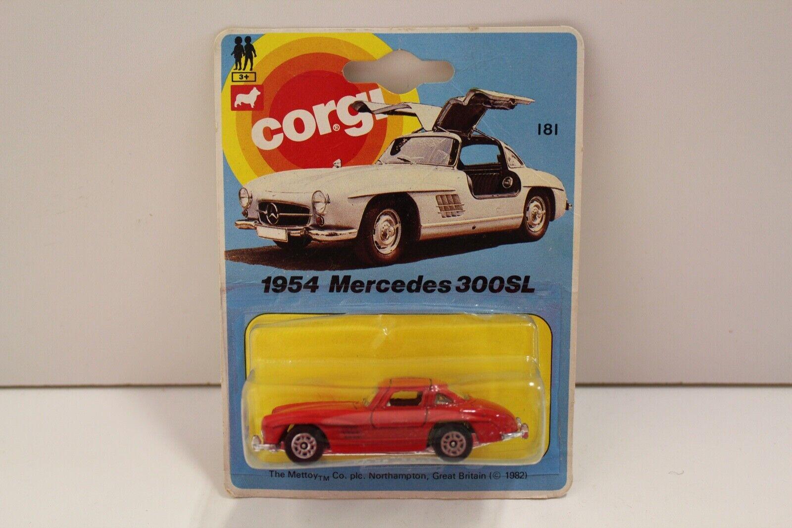 Corgi Junior No  E181  1954 Merceds 300SL 300SL 300SL  - Red (Original 1982 UNOPENED) 3790c8