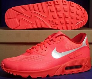 nike air max 90 hyperfuse premium id solar red white sz 9. Black Bedroom Furniture Sets. Home Design Ideas